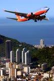 Aeroplano en el Brasil foto de archivo