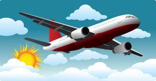Aeroplano en el cielo Fotografía de archivo libre de regalías
