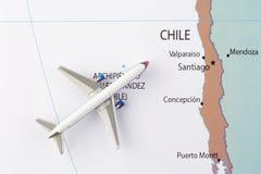 Aeroplano en mapa fotografía de archivo libre de regalías