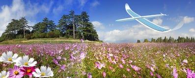 Aeroplano a energia solare Immagini Stock