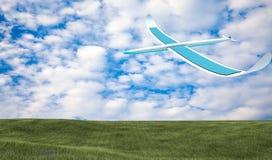 Aeroplano a energia solare Fotografia Stock