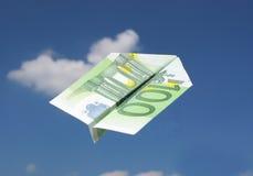 Aeroplano EURO Fotos de archivo