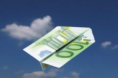 Aeroplano EURO Imágenes de archivo libres de regalías