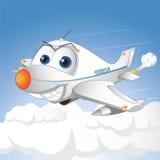 Aeroplano felice Illustrazione Vettoriale