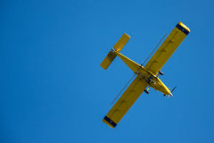 Aeroplano giallo Immagini Stock