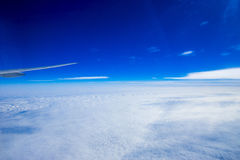 Aeroplano, globo - equipo navegacional, tierra del planeta, Cityscap fotos de archivo libres de regalías