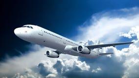 Aeroplano grande del pasajero foto de archivo