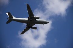 Aeroplano grigio Immagine Stock Libera da Diritti
