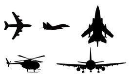 Aeroplano, helicóptero Imagen de archivo