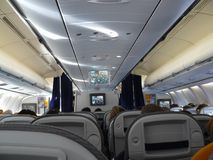 Aeroplano interior imagenes de archivo