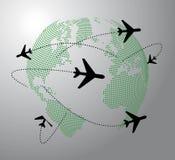 Aeroplano intorno al mondo Fotografia Stock