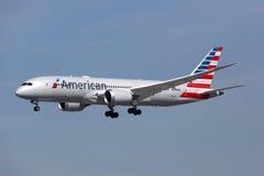 Aeroplano Los Angeles Int di American Airlines Boeing 787 Dreamliner Immagine Stock Libera da Diritti
