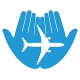 Aeroplano mancante Immagini Stock Libere da Diritti