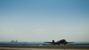 Aeroplano militar Imagen de archivo