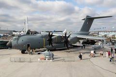 Aeroplano militar del cargo de Airbus A400M Imagen de archivo libre de regalías