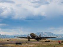 Aeroplano militare Immagini Stock