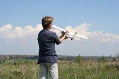 Aeroplano modelo Imagen de archivo libre de regalías