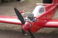 Aeroplano modelo controlado de radio foto de archivo libre de regalías