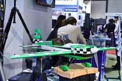 Aeroplano modelo del banco de prueba Imagen de archivo libre de regalías