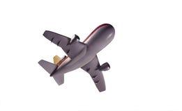 Aeroplano modelo del jet de debajo imagen de archivo