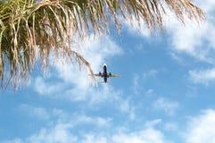 Aeroplano nel cielo. Immagine Stock