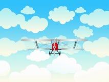 Aeroplano nel cielo blu. Immagine Stock Libera da Diritti