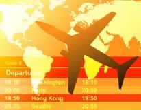 Aeroplano nero nel tramonto Royalty Illustrazione gratis
