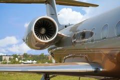 Aeroplano per i voli di affari Fotografie Stock Libere da Diritti