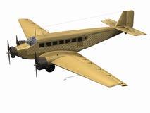 Aeroplano plano Imágenes de archivo libres de regalías