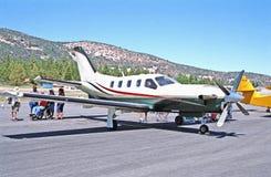 Aeroplano privado Imágenes de archivo libres de regalías