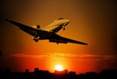 Aeroplano privado del jet Fotografía de archivo