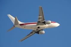Aeroplano que lleva a trabajadores al área 51 Imagen de archivo libre de regalías