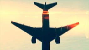 Aeroplano que pasa por encima libre illustration