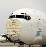 Aeroplano quebrado Foto de archivo libre de regalías