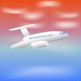 Aeroplano realista del vuelo ilustración del vector