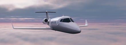 Aeroplano sobre las nubes Foto de archivo libre de regalías