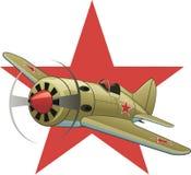 Aeroplano sovietico WW2 Immagini Stock