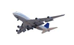 Aeroplano su bianco Fotografie Stock Libere da Diritti