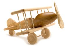 Aeroplano su bianco fotografie stock