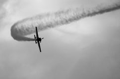 Aeroplano sul cielo Fotografie Stock