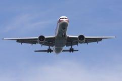 Aeroplano sul finale Fotografia Stock