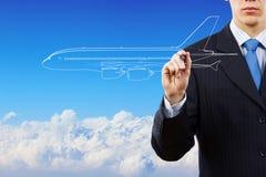 Aeroplano tirato Fotografia Stock