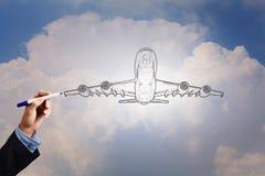 Aeroplano tirato Immagine Stock