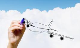 Aeroplano tirato Immagine Stock Libera da Diritti