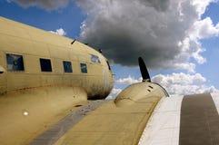 Aeroplano viejo Fotos de archivo libres de regalías