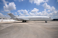 Aeroplano viejo del jet Imagen de archivo libre de regalías