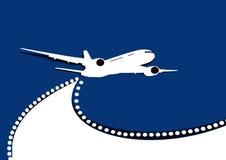 Aeroplano in volo Immagine Stock Libera da Diritti