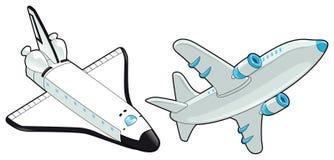 Aeroplano y lanzadera. Foto de archivo