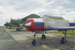 Aeroplano Yak-52 e An-52 Immagine Stock