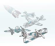 Aeroplanos Imágenes de archivo libres de regalías
